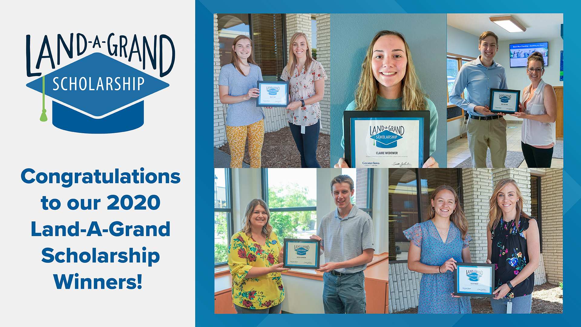 2020 land-a-grand scholarship winners