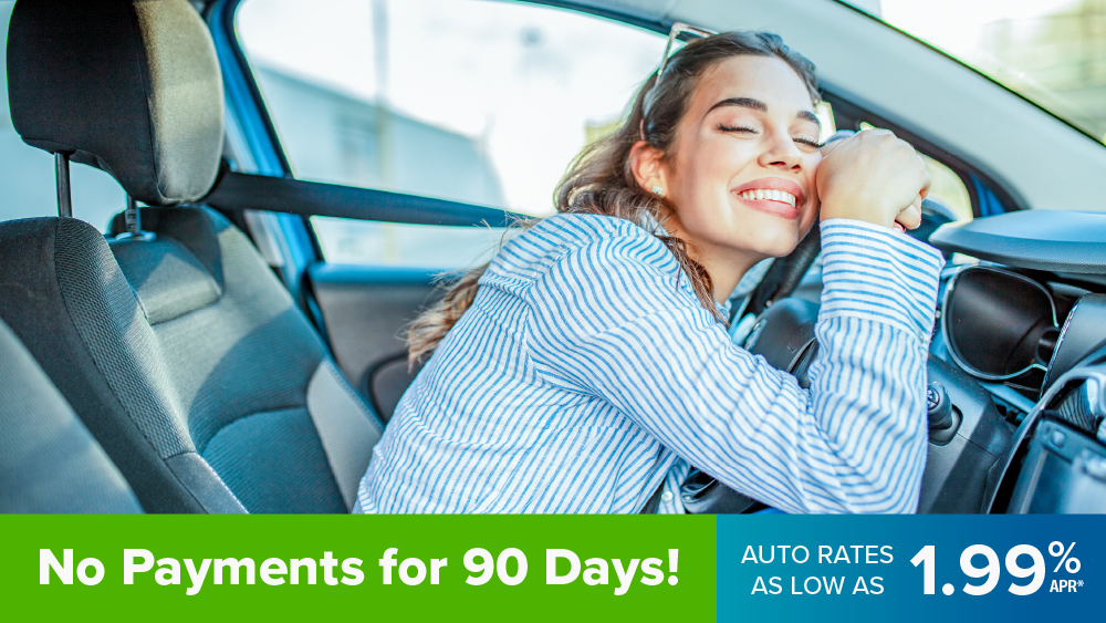 No payments for 90 days. Rates as low as 1.99% APR