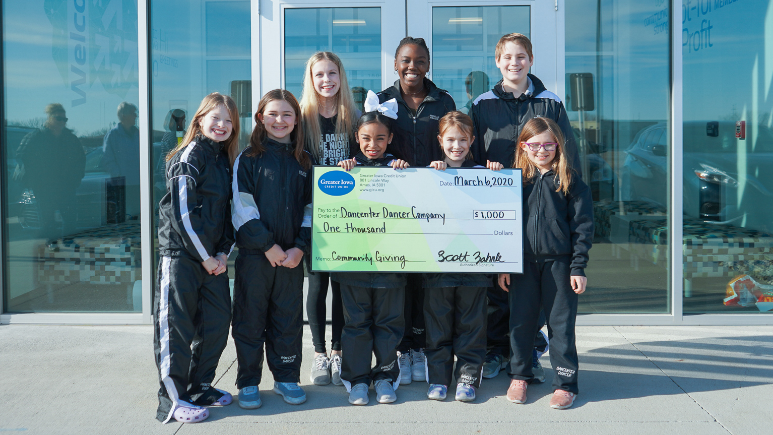 Girl Scouts of Greater Iowa Check Presentation