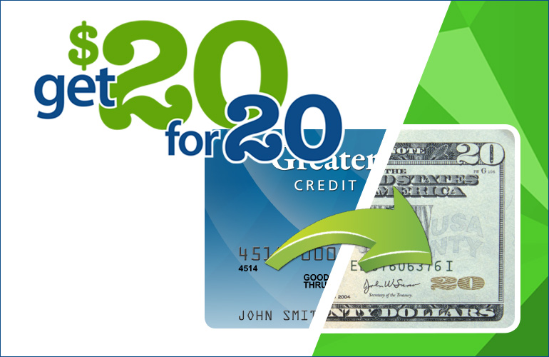 Get $20 for 20!