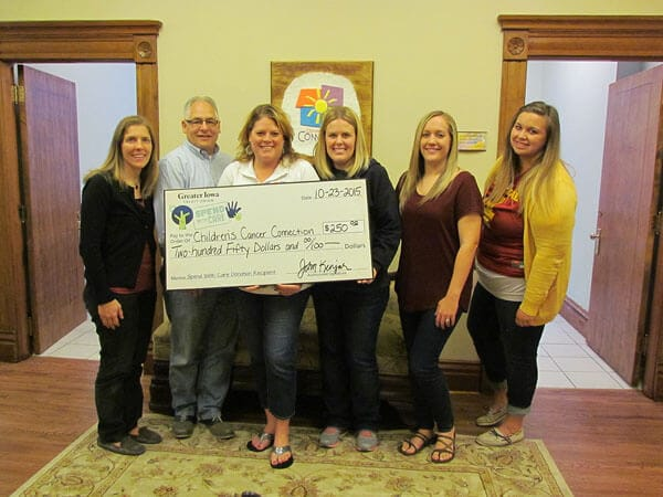 Children's Cancer Connection receives their $250 donation